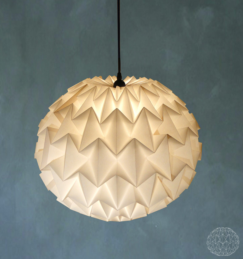 how to make origami lamp