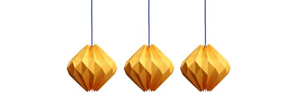 Sunny Diamond origami paper lamp