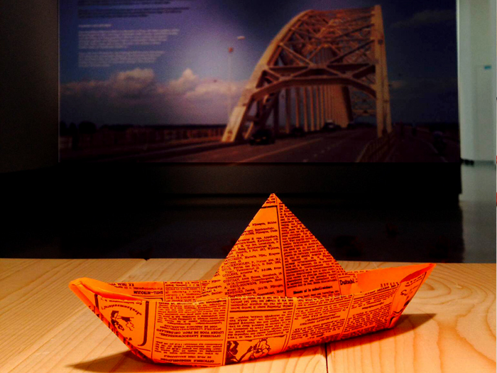 origami boat to commemorate victims of WWII