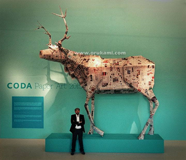 Himanshu Agrawal at CODA Paper Art 2015