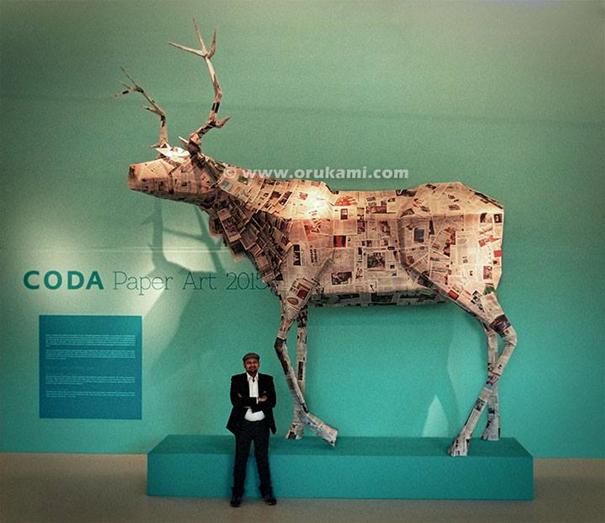 Himanshu Agrawal at CODA Paper Art 2015