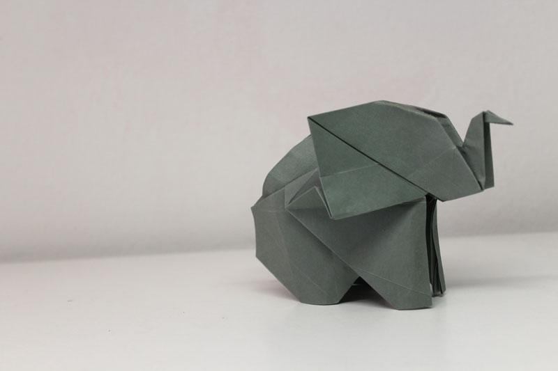 origami olifant kawahata